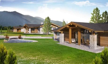 Луксозни къщи за продажба до голф игрището в Разлог